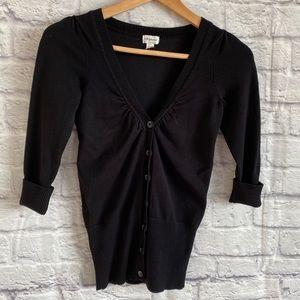 4/$20🍄 DYNAMITE Black Fitted Cardigan